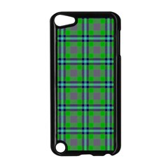 Tartan Fabric Colour Green Apple iPod Touch 5 Case (Black)