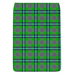 Tartan Fabric Colour Green Flap Covers (S)
