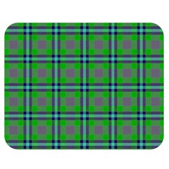 Tartan Fabric Colour Green Double Sided Flano Blanket (Medium)