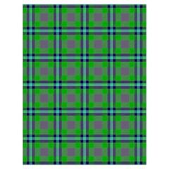 Tartan Fabric Colour Green Drawstring Bag (Large)