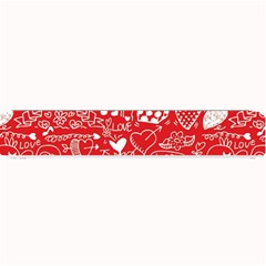 Happy Valentines Love Heart Red Small Bar Mats