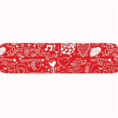 Happy Valentines Love Heart Red Large Bar Mats