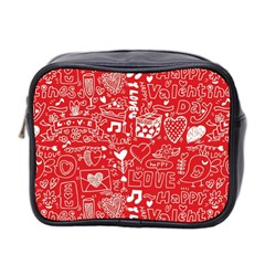 Happy Valentines Love Heart Red Mini Toiletries Bag 2-Side