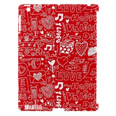 Happy Valentines Love Heart Red Apple iPad 3/4 Hardshell Case (Compatible with Smart Cover)