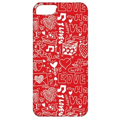 Happy Valentines Love Heart Red Apple iPhone 5 Classic Hardshell Case