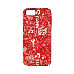 Happy Valentines Love Heart Red Apple iPhone 5 Classic Hardshell Case (PC+Silicone)