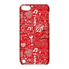 Happy Valentines Love Heart Red Apple iPod Touch 5 Hardshell Case with Stand