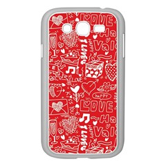 Happy Valentines Love Heart Red Samsung Galaxy Grand DUOS I9082 Case (White)