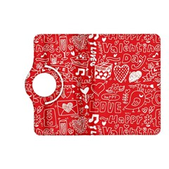 Happy Valentines Love Heart Red Kindle Fire HD (2013) Flip 360 Case