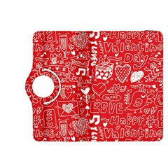 Happy Valentines Love Heart Red Kindle Fire HDX 8.9  Flip 360 Case