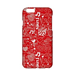 Happy Valentines Love Heart Red Apple iPhone 6/6S Hardshell Case