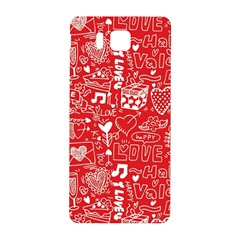 Happy Valentines Love Heart Red Samsung Galaxy Alpha Hardshell Back Case