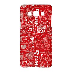Happy Valentines Love Heart Red Samsung Galaxy A5 Hardshell Case