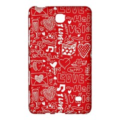 Happy Valentines Love Heart Red Samsung Galaxy Tab 4 (7 ) Hardshell Case
