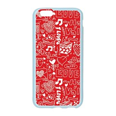 Happy Valentines Love Heart Red Apple Seamless iPhone 6/6S Case (Color)