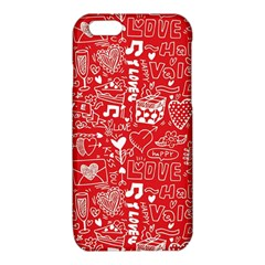 Happy Valentines Love Heart Red iPhone 6/6S TPU Case