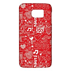 Happy Valentines Love Heart Red Galaxy S6