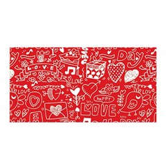 Happy Valentines Love Heart Red Satin Wrap
