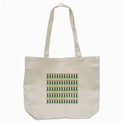 Geometric Blue Circle Blue Tote Bag (Cream)