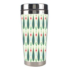 Geometric Blue Circle Blue Stainless Steel Travel Tumblers