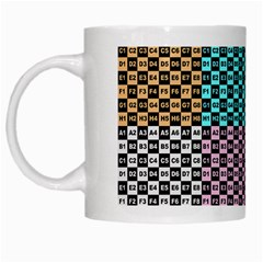 Alphabet Number White Mugs