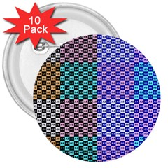 Alphabet Number 3  Buttons (10 pack)
