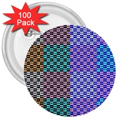 Alphabet Number 3  Buttons (100 pack)