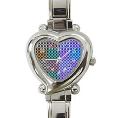 Alphabet Number Heart Italian Charm Watch