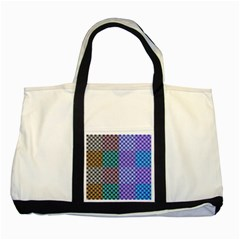 Alphabet Number Two Tone Tote Bag