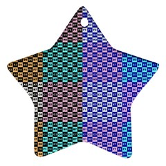 Alphabet Number Star Ornament (Two Sides)