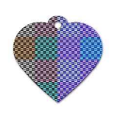 Alphabet Number Dog Tag Heart (One Side)
