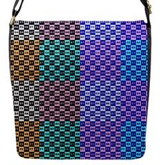 Alphabet Number Flap Messenger Bag (S)