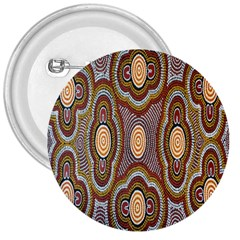 Aborigianal Austrialian Contemporary Aboriginal Flower 3  Buttons