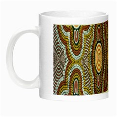 Aborigianal Austrialian Contemporary Aboriginal Flower Night Luminous Mugs
