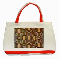 Aborigianal Austrialian Contemporary Aboriginal Flower Classic Tote Bag (Red)