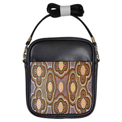 Aborigianal Austrialian Contemporary Aboriginal Flower Girls Sling Bags