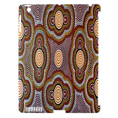 Aborigianal Austrialian Contemporary Aboriginal Flower Apple iPad 3/4 Hardshell Case (Compatible with Smart Cover)