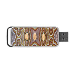 Aborigianal Austrialian Contemporary Aboriginal Flower Portable USB Flash (One Side)