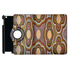Aborigianal Austrialian Contemporary Aboriginal Flower Apple iPad 3/4 Flip 360 Case