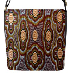 Aborigianal Austrialian Contemporary Aboriginal Flower Flap Messenger Bag (S)