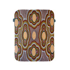 Aborigianal Austrialian Contemporary Aboriginal Flower Apple iPad 2/3/4 Protective Soft Cases