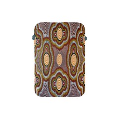 Aborigianal Austrialian Contemporary Aboriginal Flower Apple iPad Mini Protective Soft Cases
