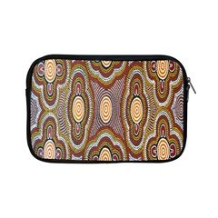 Aborigianal Austrialian Contemporary Aboriginal Flower Apple iPad Mini Zipper Cases