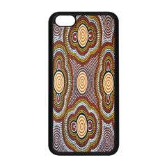 Aborigianal Austrialian Contemporary Aboriginal Flower Apple iPhone 5C Seamless Case (Black)