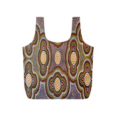 Aborigianal Austrialian Contemporary Aboriginal Flower Full Print Recycle Bags (s)