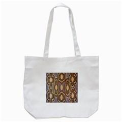Aborigianal Austrialian Contemporary Aboriginal Flower Tote Bag (White)