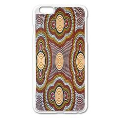 Aborigianal Austrialian Contemporary Aboriginal Flower Apple iPhone 6 Plus/6S Plus Enamel White Case