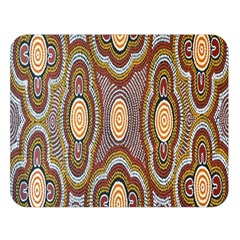 Aborigianal Austrialian Contemporary Aboriginal Flower Double Sided Flano Blanket (Large)