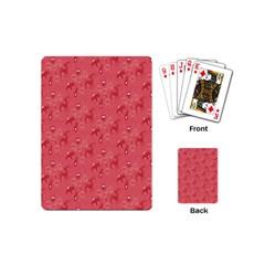 Animals Deer Owl Bird Bear Grey Red Playing Cards (Mini)
