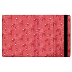 Animals Deer Owl Bird Bear Grey Red Apple iPad 3/4 Flip Case